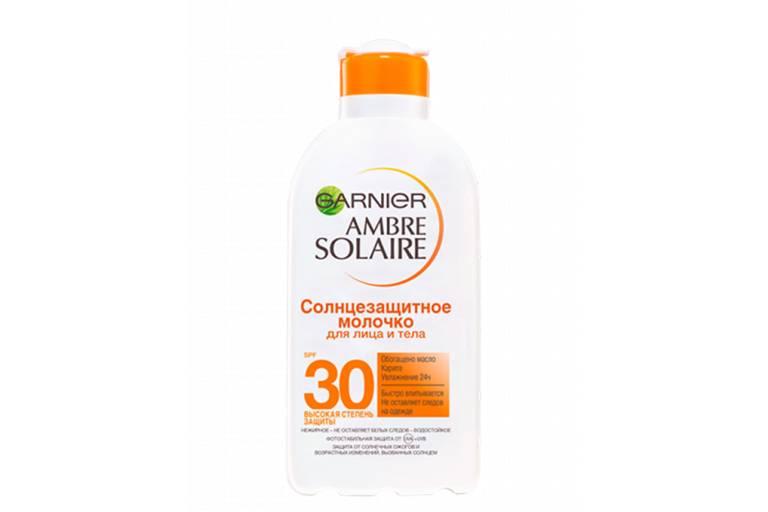Солнцезащитное молочко с SPF защитой