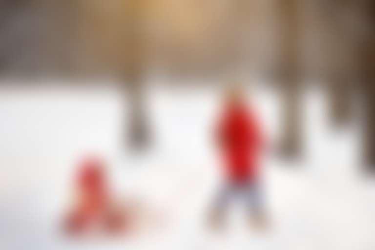 детский уход зимой