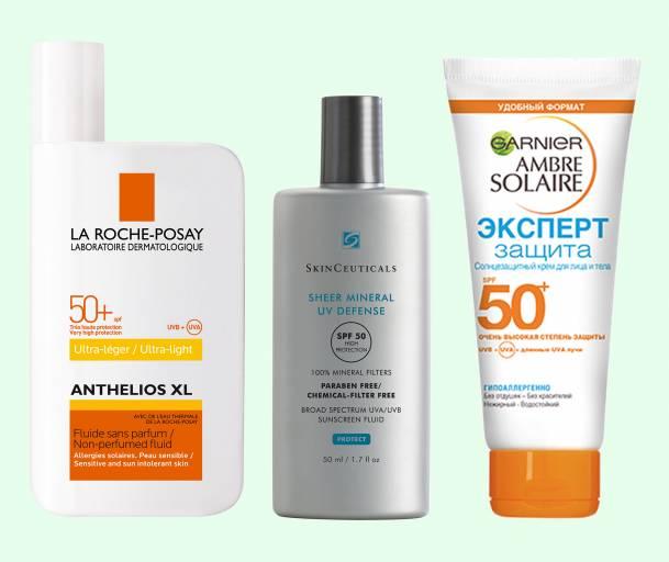 SPF Sensitive La Roche-Posay, SkinCeuticals, Garnier