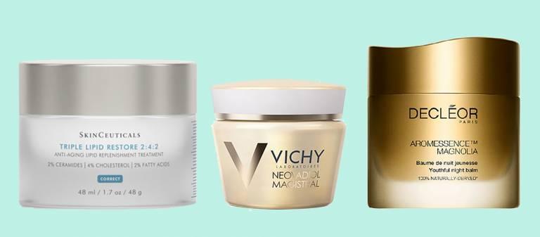 Triple Lipid Restore, SkinCeuticals, Neovadiol Magistral, Vichy, Омолаживающий ночной бальзам Aromessence Magnolia, Decleor