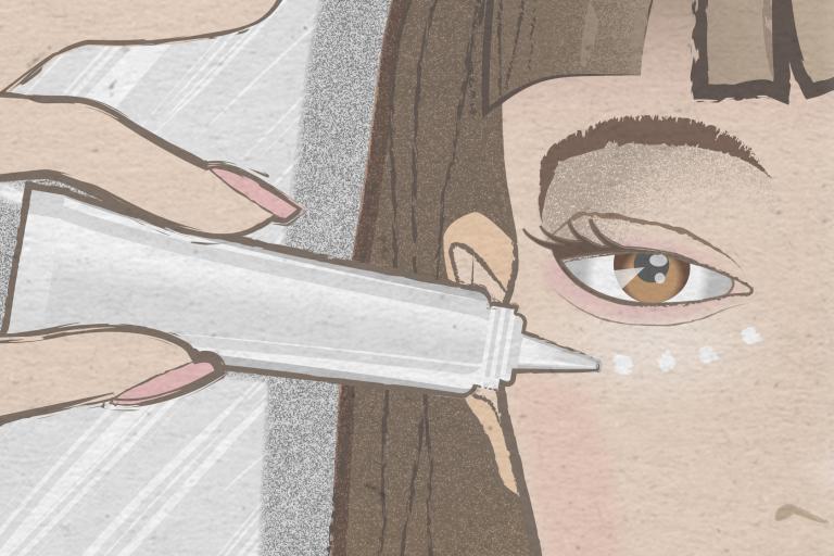 Как сделать темные круги под глазами без макияжа