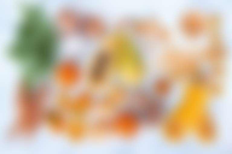 оранжевые овощи с бета-каротином для кожи