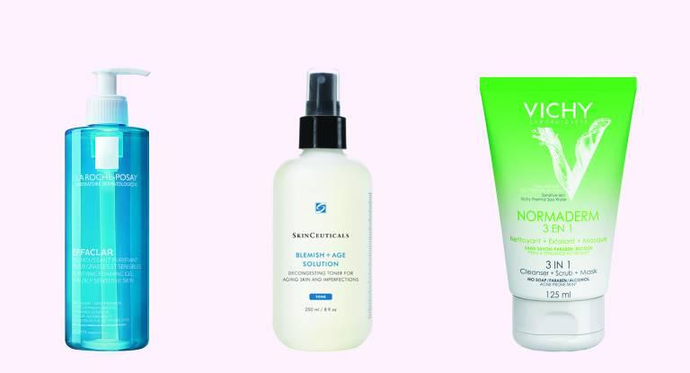 Effaclar Gel, La Roche-Posay, Blemish + Age Solution, Skinceuticals, Normaderm 3 в 1, Vichy