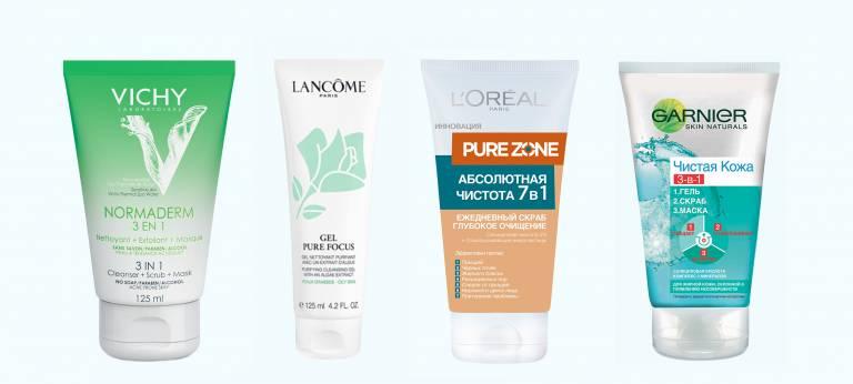 Очищающие средства для жирной кожи