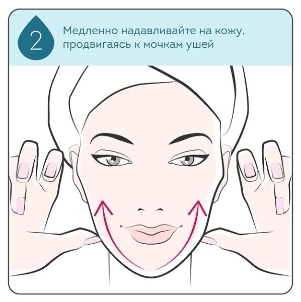 массаж нижней трети лица