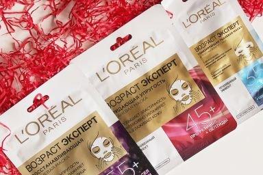 Экспертный антивозрастной уход: тканевые маски L'Oréal Paris «Возраст Эксперт»