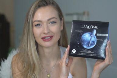 Тестируем гидрогелевую маску Advanced Génifique от Lancôme вместе с Алиной Fly Cloud