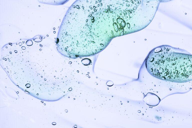 Текстура желеобрзной жидкости в воде