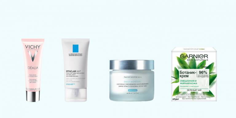 Кремы для жирной кожи Vichy, La Roche-Posay, SkinCeuticals, Garnier
