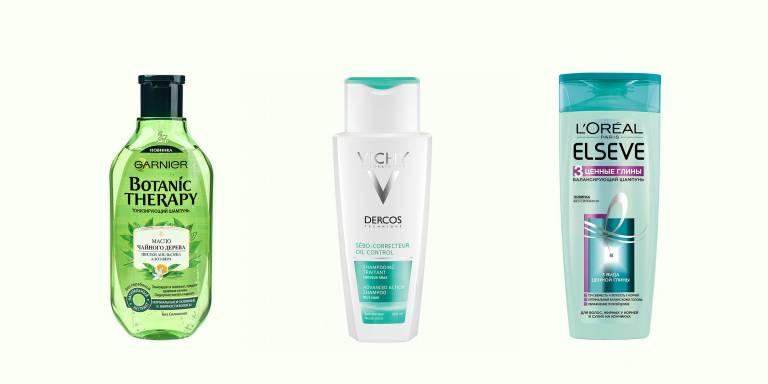 Шампуни для жирной кожи головы: Gariner, Vichy. L'Oreal Paris
