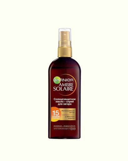 Spray oil for intensive tanning with shea butter SPF15, Garnier