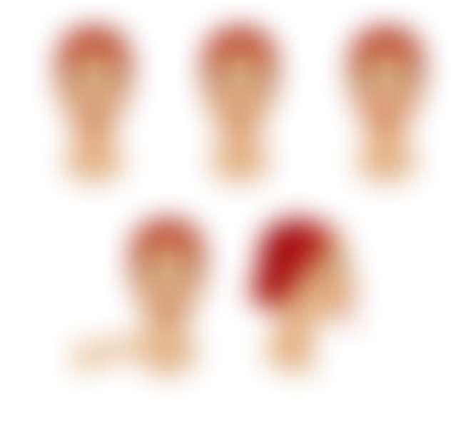 Схема упражнений для овала лица и подбородка.