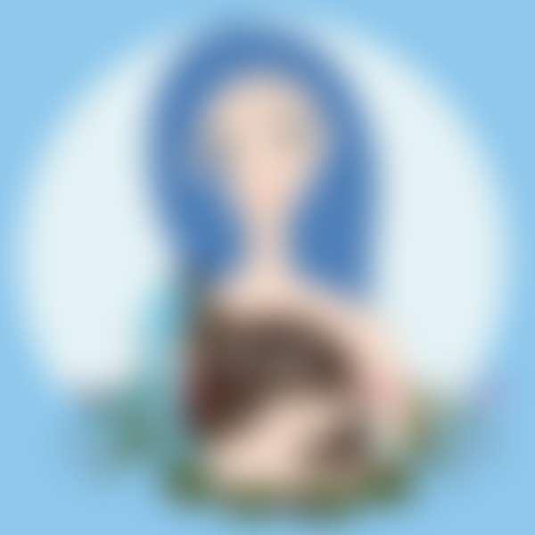 рисунок девушки в образе знака зодиака водолей