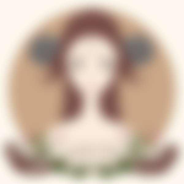 рисунок девушки в образе знака зодиак овен
