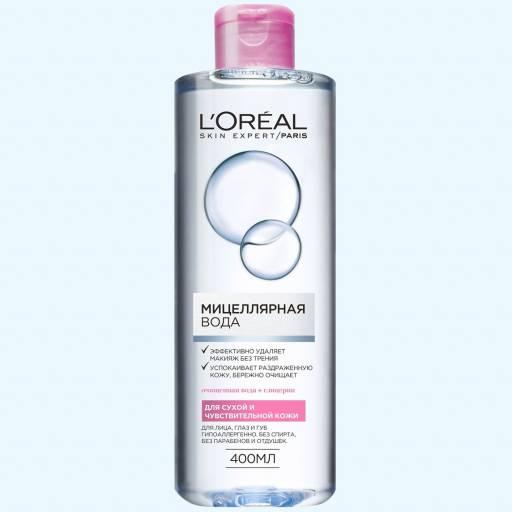 Мицеллярная вода для сухой и чувствительной кожи L'Oréal Paris