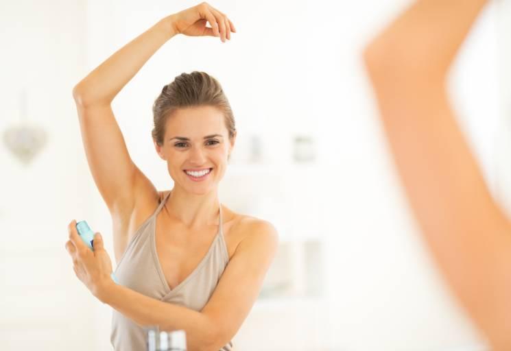 как применять дезодорант