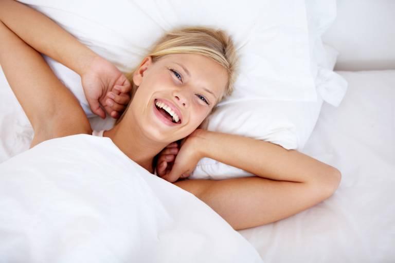 Женщина после пробуждения