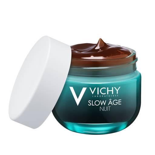 Восстанавливающий ночной крем-маска для интенсивной оксигенации кожи Slow Age Vichy