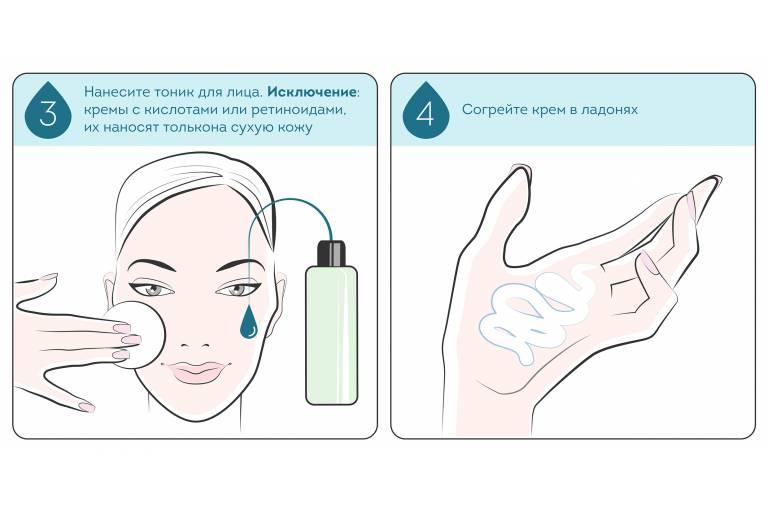 нанесение крема для лица 2
