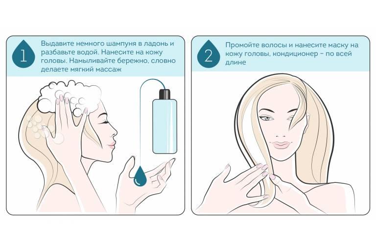 как правильно мыть волосы 1-2