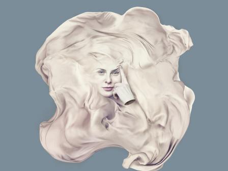 Абстрактная картинка маски для лица